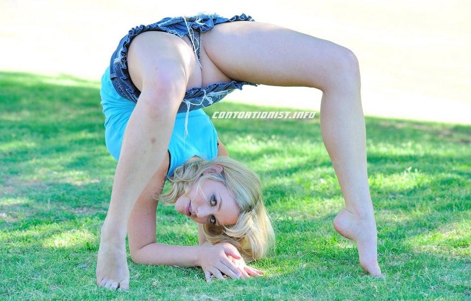 Half nude contortionist